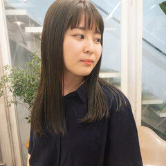 暗髪 TOKIOトリートメント ナチュラル ミディアムヘアー ヘアスタイルや髪型の写真・画像