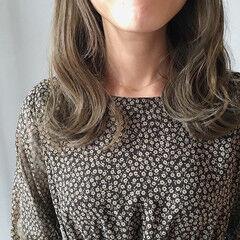 デート ナチュラル ミディアム ヘアアレンジ ヘアスタイルや髪型の写真・画像