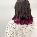 モード セミロング 裾カラー