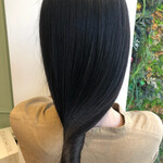 黒髪 ナチュラル 髪質改善トリートメント ロング