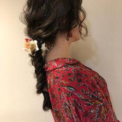 簡単ヘアアレンジ ガーリー ロング バレンタイン ヘアスタイルや髪型の写真・画像