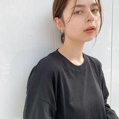 大人カジュアル ミニボブ アンニュイほつれヘア 大人女子 ヘアスタイルや髪型の写真・画像