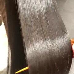 髪質改善トリートメント トリートメント ロング 縮毛矯正 ヘアスタイルや髪型の写真・画像