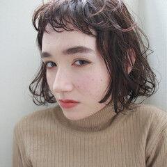 外国人風 ストリート フレンチセピアアッシュ ボブ ヘアスタイルや髪型の写真・画像