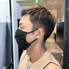 切りっぱなしボブ メンズカラー メンズヘア ショートボブ ヘアスタイルや髪型の写真・画像