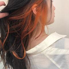 透明感カラー デザイン セミロング ナチュラル ヘアスタイルや髪型の写真・画像