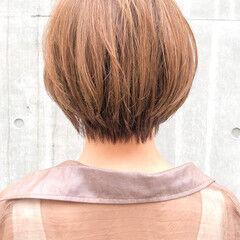 ショートボブ ナチュラル ベリーショート ショートアレンジ ヘアスタイルや髪型の写真・画像