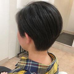 ボーイフレンドショート ベリーショート オフィス ショート ヘアスタイルや髪型の写真・画像