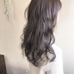 大人可愛い ロング フェミニン ゆるナチュラル ヘアスタイルや髪型の写真・画像