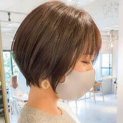 透明感カラー ウルフカット ラベンダーグレージュ パーマ ヘアスタイルや髪型の写真・画像