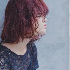 ストリート ゆるふわ 色気 ベリーピンク ヘアスタイルや髪型の写真・画像