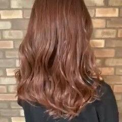 ピンクバイオレット ミディアム 透明感 N.オイル ヘアスタイルや髪型の写真・画像