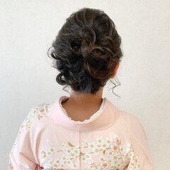 ミディアム 結婚式 訪問着 着物 ヘアスタイルや髪型の写真・画像