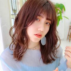ミディアム イメチェン ミディアムレイヤー レイヤーカット ヘアスタイルや髪型の写真・画像