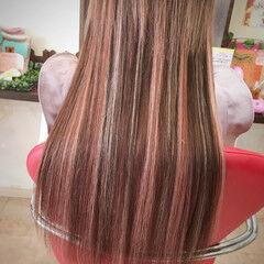 ロング エクステ 女子会 外国人風 ヘアスタイルや髪型の写真・画像