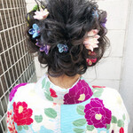 編み込みヘア ヘアアレンジ ロング ふんわり