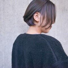 ボブ ショートボブ インナーカラー ナチュラル ヘアスタイルや髪型の写真・画像