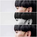ショートヘア ポイントカラー モード ブリーチ
