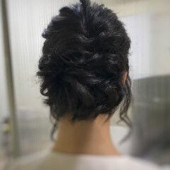 お呼ばれヘア 結婚式 フェミニン すっきり ヘアスタイルや髪型の写真・画像