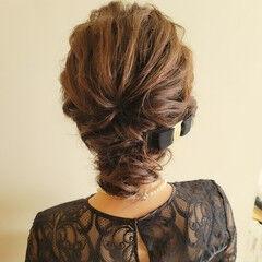 結婚式ヘアアレンジ 結婚式 簡単ヘアアレンジ 結婚式アレンジ ヘアスタイルや髪型の写真・画像