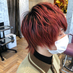 メンズヘア ウルフカット ショート メンズショート ヘアスタイルや髪型の写真・画像