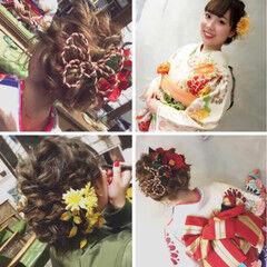 和装ヘア ヘアアレンジ ロング 和装髪型 ヘアスタイルや髪型の写真・画像