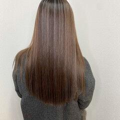 ロング 透明感カラー ハイライト ダブルカラー ヘアスタイルや髪型の写真・画像