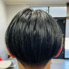 濡れ感 フェードカット ヘアカラー ショート ヘアスタイルや髪型の写真・画像
