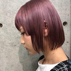 ブリーチ モード ショート ピンクパープル ヘアスタイルや髪型の写真・画像