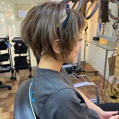 セルフヘアアレンジ ショートヘア ショート モード ヘアスタイルや髪型の写真・画像