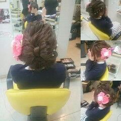 和装 ロング ヘアアレンジ 着物 ヘアスタイルや髪型の写真・画像