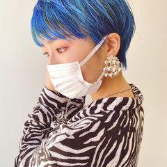 インナーカラー ハンサムショート ショート ベリーショート ヘアスタイルや髪型の写真・画像