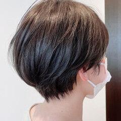 ゆるナチュラル ショートボブ ショートヘア ベリーショート ヘアスタイルや髪型の写真・画像