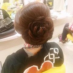 お祭り セミロング 着物 ヘアアレンジ ヘアスタイルや髪型の写真・画像