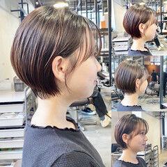 ナチュラル 大人ショート ショートヘア ショート ヘアスタイルや髪型の写真・画像