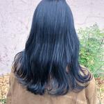 艶髪 セミロング ダークトーン ナチュラル