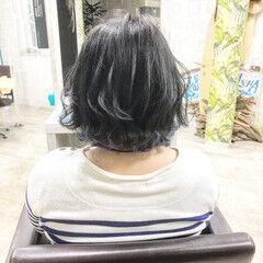 ブリーチオンカラー アディクシーカラー ストリート 切りっぱなしボブ ヘアスタイルや髪型の写真・画像