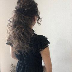 ヘアセット ブライダル 結婚式 フェミニン ヘアスタイルや髪型の写真・画像