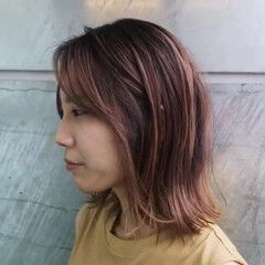 バレイヤージュ 外国人風 ハイライト ストリート ヘアスタイルや髪型の写真・画像
