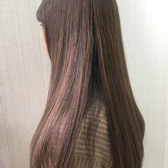大人かわいい 渋谷系 抜け感 セミロング ヘアスタイルや髪型の写真・画像