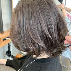 ナチュラル ハイライト ボブ ヘアスタイルや髪型の写真・画像