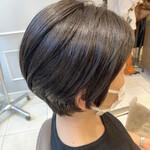 透明感カラー ベリーショート ショートヘア モード