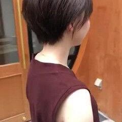 丸みショート ショートヘアアレンジ ショート ショートボブ ヘアスタイルや髪型の写真・画像