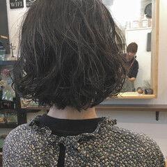 ガーリー ゆるふわパーマ ボブ ミニボブ ヘアスタイルや髪型の写真・画像