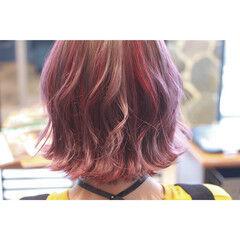 個性的 フェミニン 透明感 パステルカラー ヘアスタイルや髪型の写真・画像