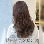 ハイライト 巻き髪 髪質改善トリートメント ゆる巻き