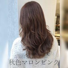 ハイライト 巻き髪 髪質改善トリートメント ゆる巻き ヘアスタイルや髪型の写真・画像