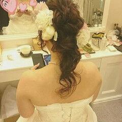 パーティ ドレス ブライダル ゆるふわ ヘアスタイルや髪型の写真・画像