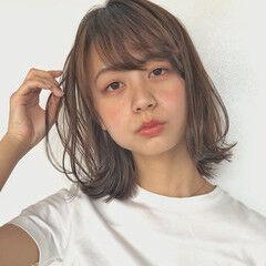 タンバルモリ ミルクティーベージュ 韓国ヘア ナチュラル ヘアスタイルや髪型の写真・画像
