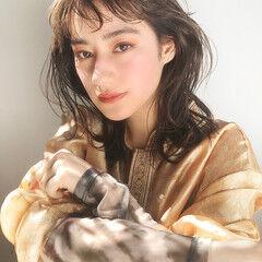 ナチュラル デジタルパーマ ゆるふわパーマ ウルフカット ヘアスタイルや髪型の写真・画像